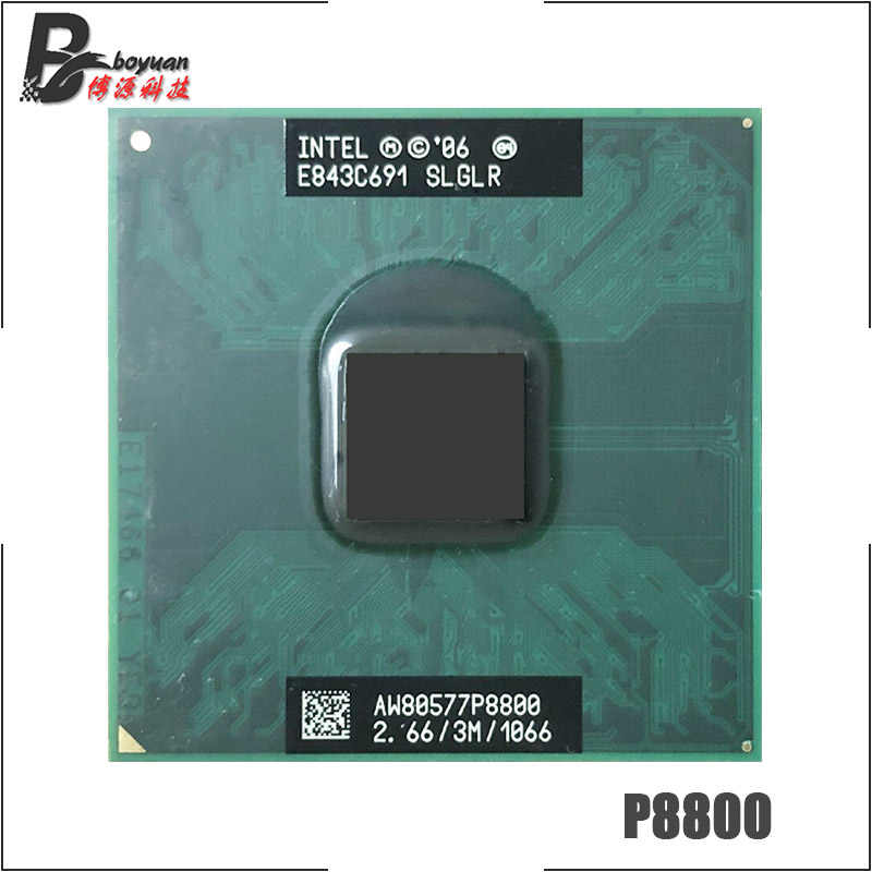 Intel Core 2 Duo Mobile P8800 SLGLR 2.6 GHz Dual-Core Dual-Thread di CPU Processore 3M 25W Socket P