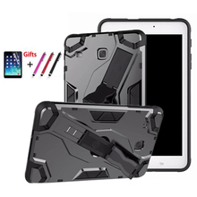 SM T375 T377V T377 Back hard Armor Cover Case Tab E 8inch Tablet PU+PC Heavy Duty For Samsung Galaxy 8.0