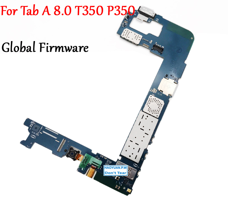 Tested Full Work Unlock Motherboard For Samsung Galaxy Tab A 8.0 T350 P350 Logic Circuit Electronic Panel Original Phone-in Mobile Phone Housings & Frames from Cellphones & Telecommunications    1