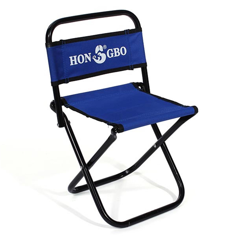 Buy portable folding chair backrest fishing chair small for Small blue armchair