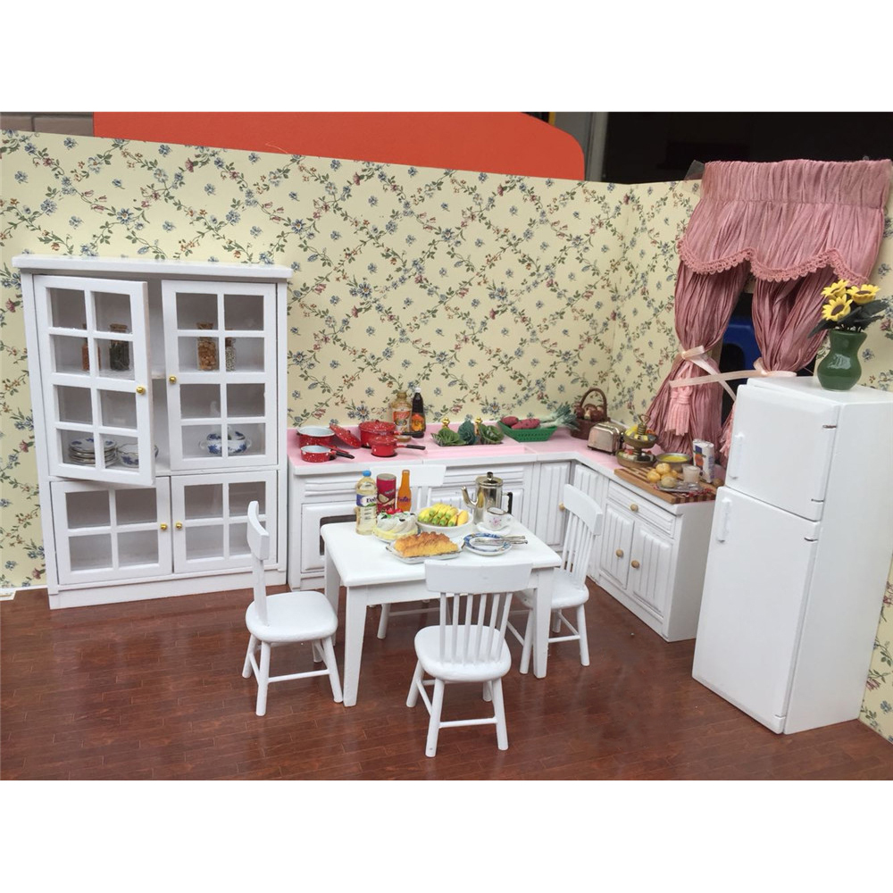 1 12 dollhouse furniture toy for dolls miniature for Kitchen set cicilan 0