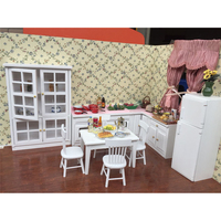 1:12 Dollhouse Furniture toy for dolls Miniature refrigerator stove simulation kitchen sets pretend play toys for girls gifts