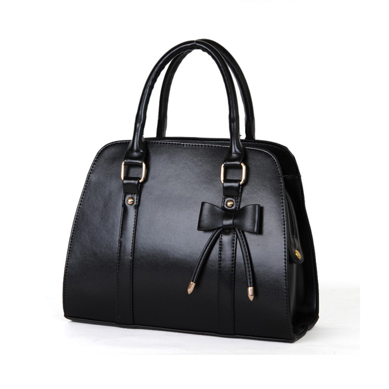 ФОТО 2017 fashion PU leather women handbag women elegant  Bow handbags women shoulder bag women messenger bags W0137