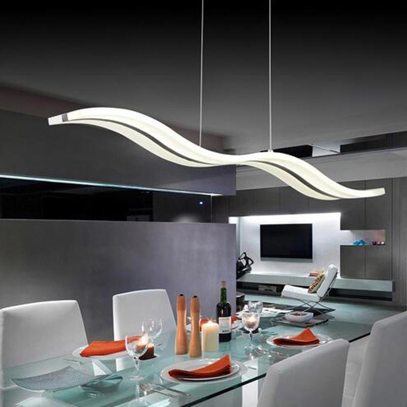 moderne led pendelleuchten acryl welle form kreative esszimmer schlafzimmer hngelampe lamparas colgantes leuchte hause beleuchtung - Moderne Kreative Esszimmer