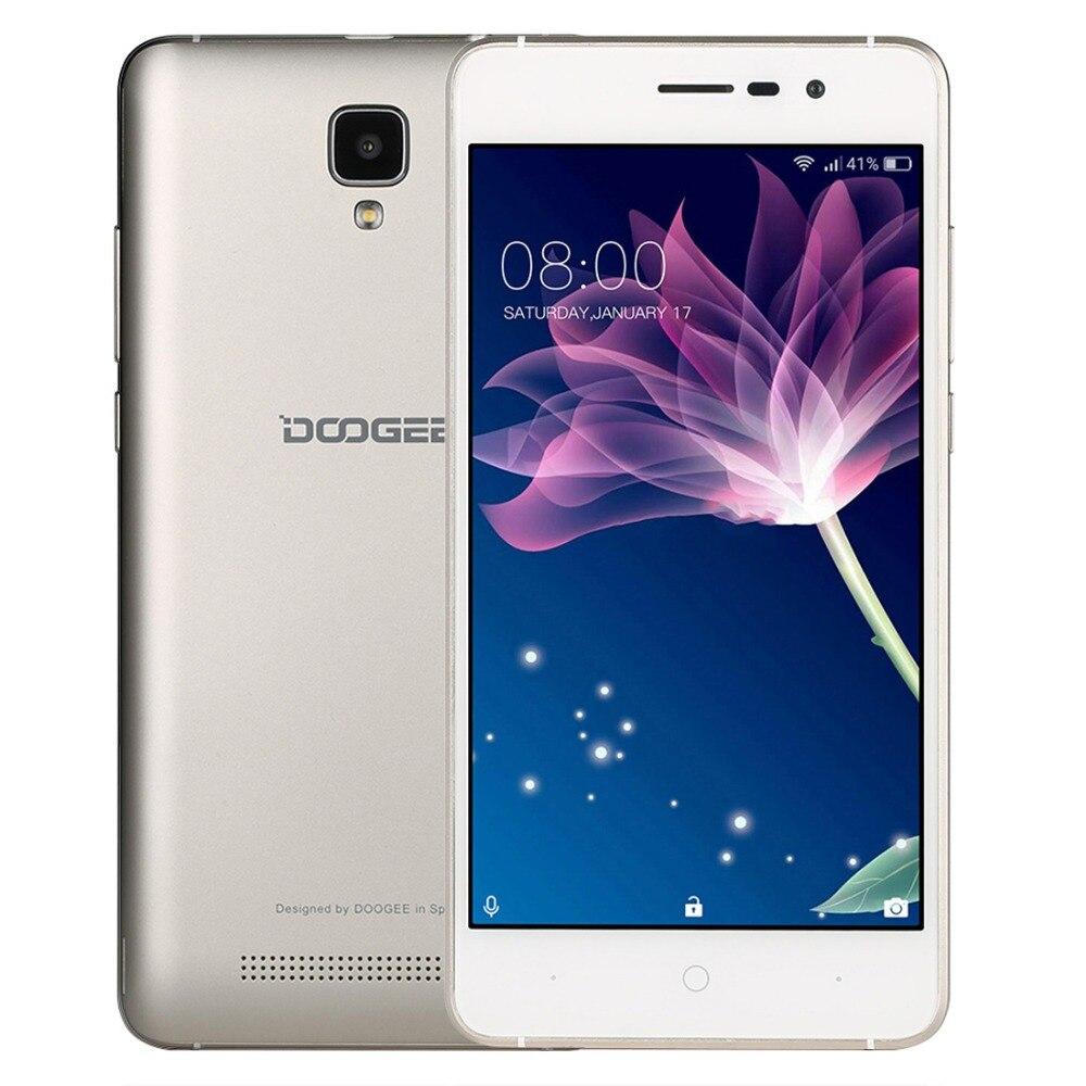 Origine Doogee X10 ROM 8 GB Smartphone 3360 mAh MTK6570 Dual Core 5.0 pouces Android 6.0 Métal Cadre RAM 512 M GPS 3G Téléphone Portable OTA