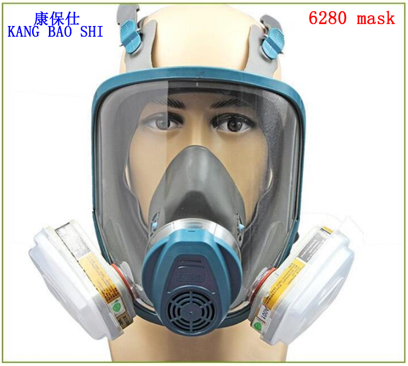 6280 respirator gas mask high quality Silica gel gas mask respirator mask against pesticide Painting chemical gas mask high quality respirator gas mask brand practical type protective mask painting pesticide industrial safety chemical gas mask
