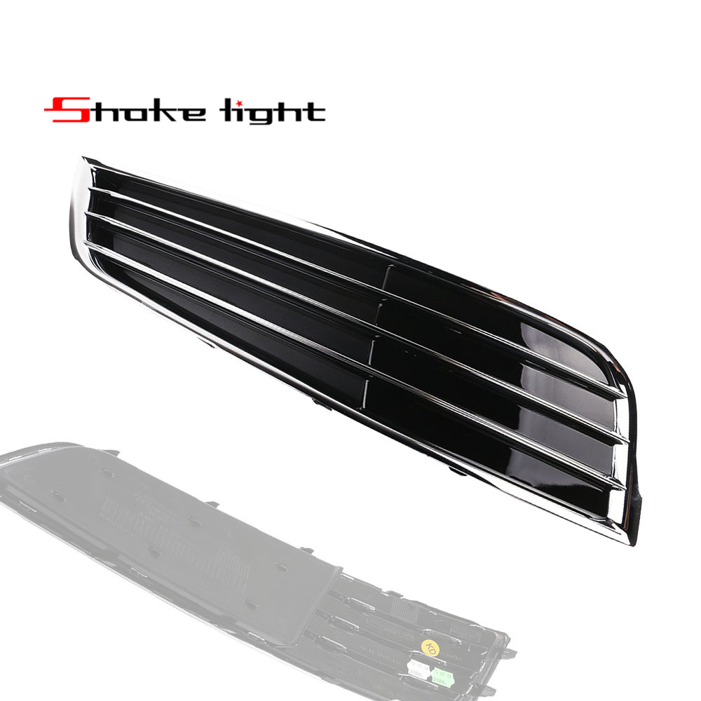 X1 New Chrome Front Right Bumper Lower Grille Grill 3 Bars For Audi A8 Qu. D4 2010 2011 2012 2013 4H0807680E 4H0 807 680E for audi a7 modified rs7 style front hood center grille grill car styling 2012 2013 2014 2015