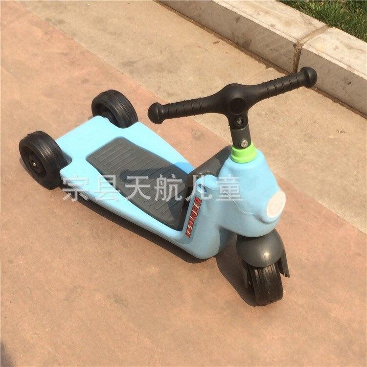 2 en 1 bébé voiture enfants Scooter Tricycle multi-fonction enfant Scooter enfants monter sur voiture Balance vélo bébé marcheur avec roues - 5