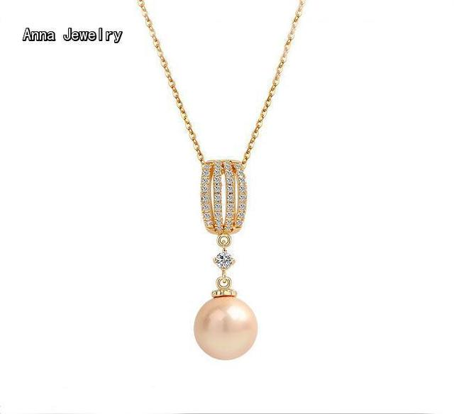 2017 new fashion designer pearl pendant necklacerose gold color 2017 new fashion designer pearl pendant necklacerose gold color chain with pink pearl and aloadofball