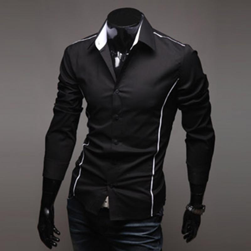 fb3b5a749511 2019 Fashion New Long Sleeve Shirts Men Korean Slim Design Cotton