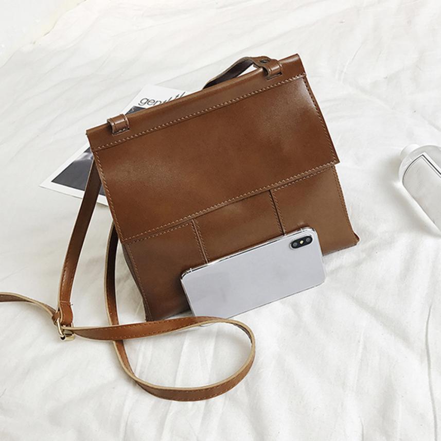 Модные женские простые Искусственная кожа Сумка через плечо сумка женская сплошной цвет пряжки небольшой площади сумка # F
