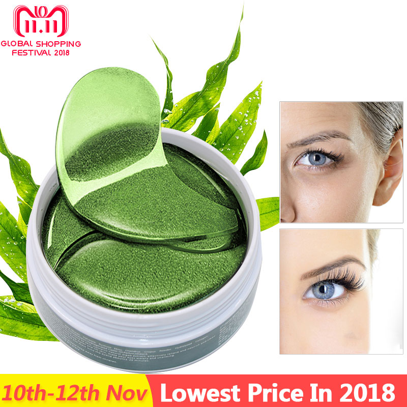 60pcs Crystal Collagen Eye Mask Gel Eye Patches for Eyes Care Sleep Masks Remover Dark Circles Anti Age Eye Bags Patch Ageless recette merveilleuse ultra eye contour gel by stendhal for women 0 5 oz gel