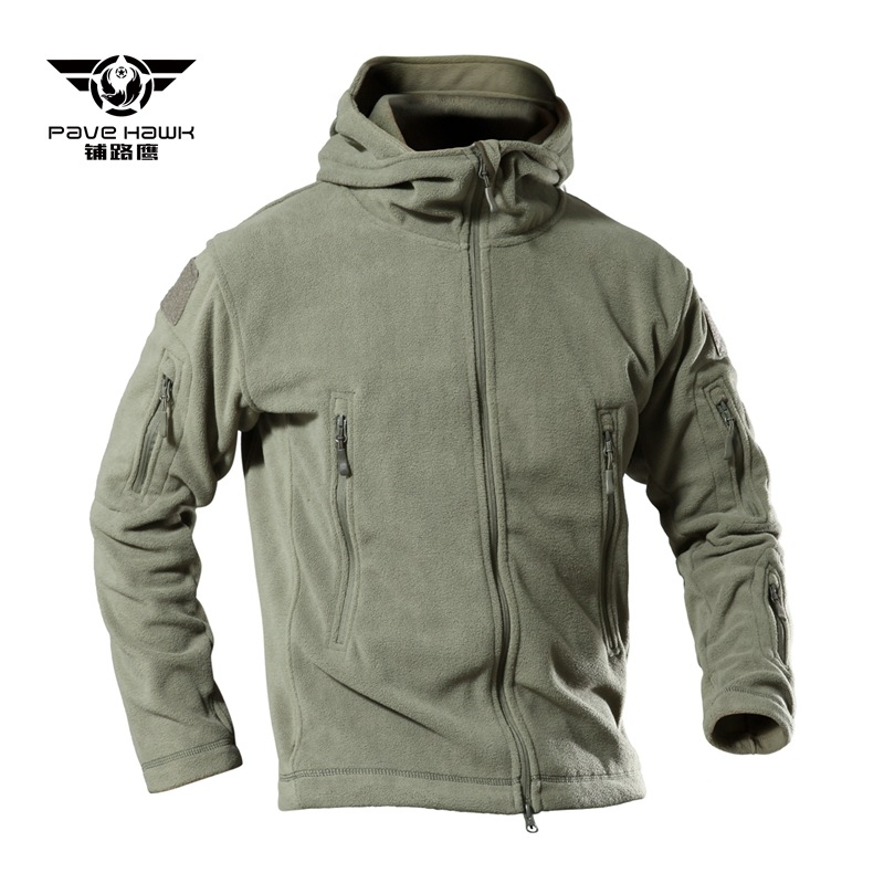 Fleece Jackets Mens Hoodie Winter Soft Shell Warm Outdoor Sports Outwear Windbreaker Hunting Coat Army Military Tactical Jacket