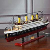 Wood Model Ships Titanic Модель Корабля Led Wooden Ship Models Kits 55cm Scale Boats Voyager Model Modelling Tools Hobby Diy Toy