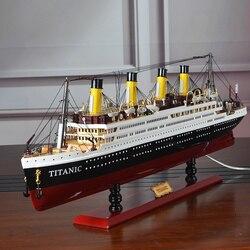 Holz Modell Schiffe Titanic Модель Корабля Led Holz Schiff Modelle Kits 55cm Skala Boote Voyager Modell Modellierung Werkzeuge Hobby diy Spielzeug