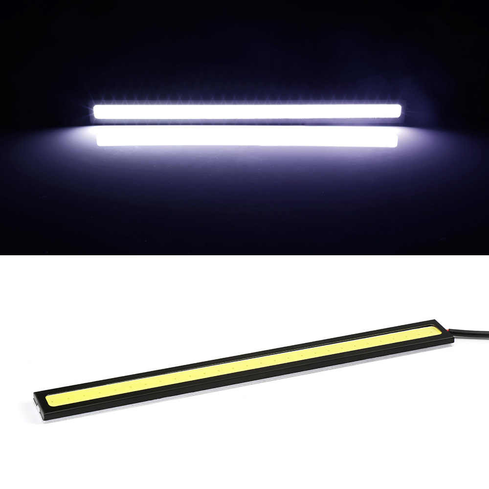 1PCS 17cmCOB LED DRL Driving Daytime Running Lights Strip COB LED DRL Bar Stripes Panel Lamps 12V Auto Driving Day time Lights