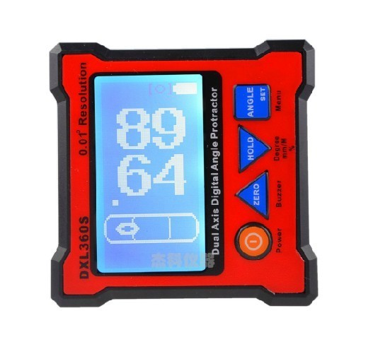 DXL360S GYRO and GRAVITY 2 in 1 Dual Axis Digital Angle Protractor Inclinometer Dual Axis Level Box 0.01 Digital Inclinometer