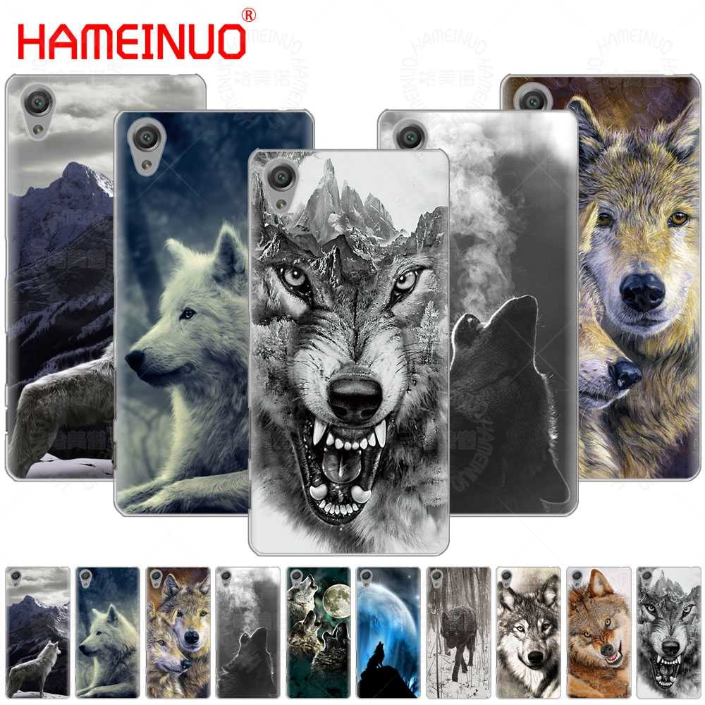 Волк животных чехол для телефона Sony Xperia Z2 Z3 Z4 Z5 Mini плюс aqua M4 M5 E4 E5 E6 C4 C5