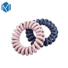 M MISM 2 pcs/pair GirlsTelephone Wire Line Cord Ponytail Holder Scrunchy Headband Gum Womens Hair Accessories Elastic Hair bands(China)