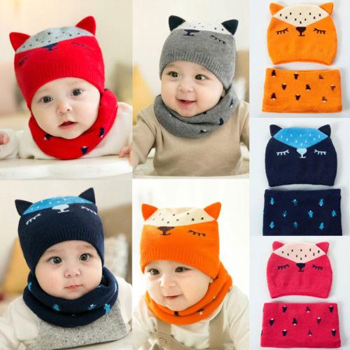 Bebê infantil Menina Menino Inverno Quente Bonito Fox Cap Chapéu Gorro  Cachecol Para Criança Crianças em Toucas e Bonés de Mãe   Kids no  AliExpress.com ... fd4224d81dd