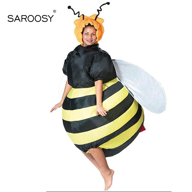 SAROOSY New Bee Cosplay Inflatable Costumes for Adult Size Halloween Funny Performance Inflated Garment Costume