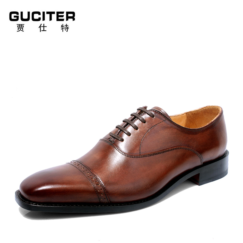 Goodyear handwork men's leather shoes, men's shoes and shoes size code business suit small head layer cowhide sewing man shoes полироль пластика goodyear атлантическая свежесть матовый аэрозоль 400 мл