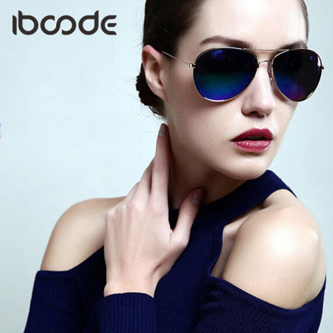 iboode Reflective Pilot Sunglasses for Men Women Cool Finshing Driving Goggles Mirror Luxury Ladies Sun Glasses Brand Designer Pakistan