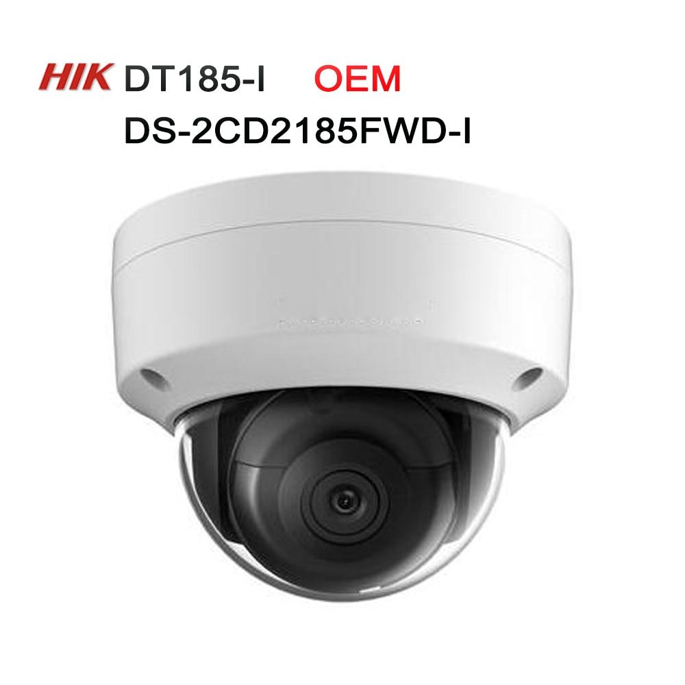 Hikvision 8MP IP Camera with SD Card Slot IP67 DS-2CD2185FWD-I OEM model DT185-I Network Dome Camera H.265 CCTV Camera 4pcs/lot oem browning 4pcs lot oem a37 g10