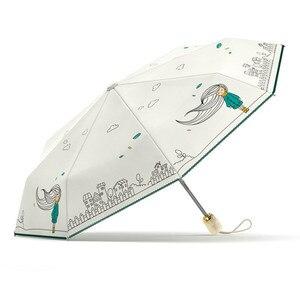 Image 5 - Olycat dobrável guarda chuva chuva feminino qualidade automática impermeável à prova de vento anti uv feminino marca genuína