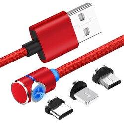 2 m 3 w 1 magnetyczny kabel ładujący USB C typu C. Błyskawica Android kabel do transmisji danych usb dla iPhone  Xiaomi  HTC  smartfony samsung