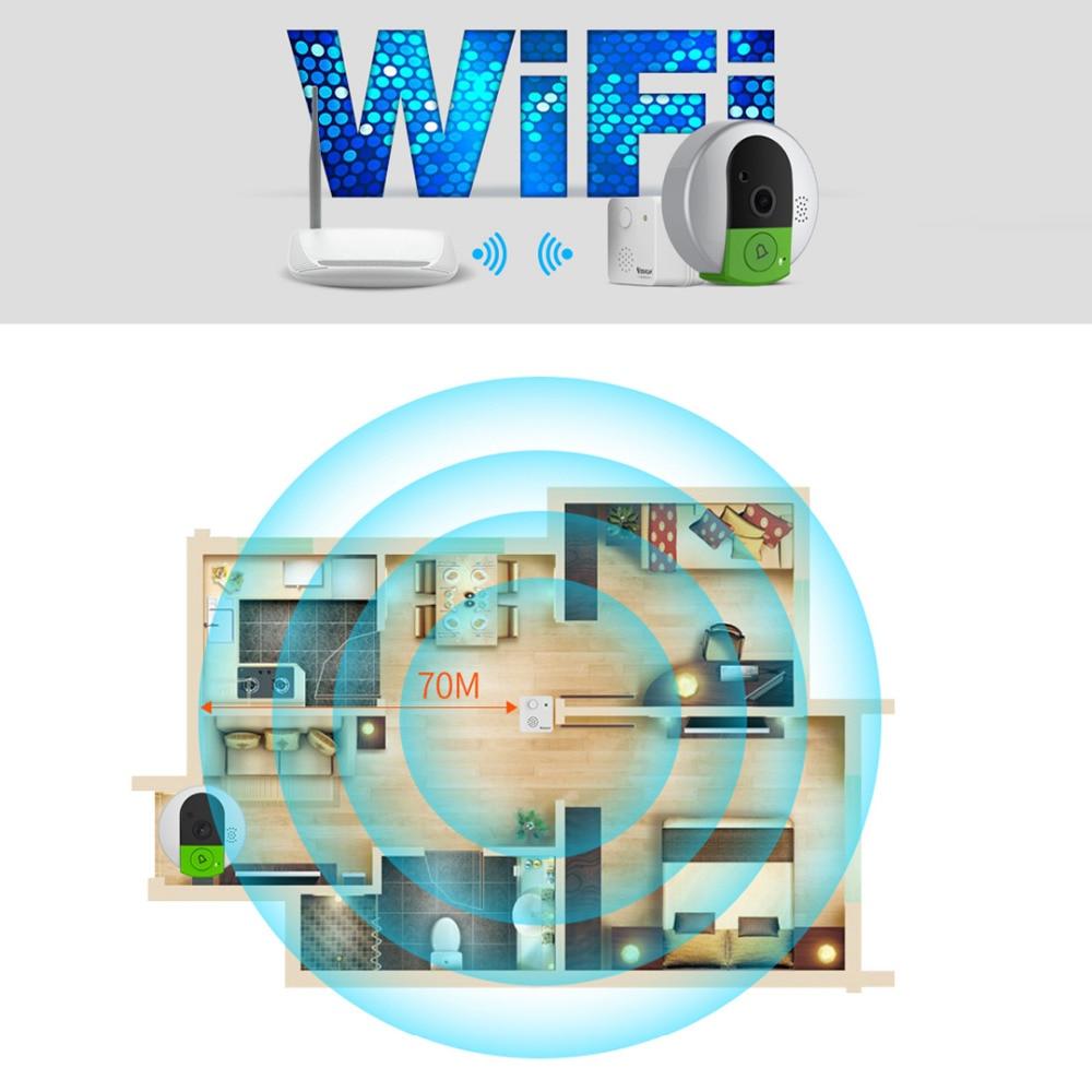 Image 5 - VStarcam C95 HD 720P Wireless WiFi Security IP Door Camera Night Vision Two Way Audio Wide Angle Video Doorcam  Cam-in Doorbell from Security & Protection