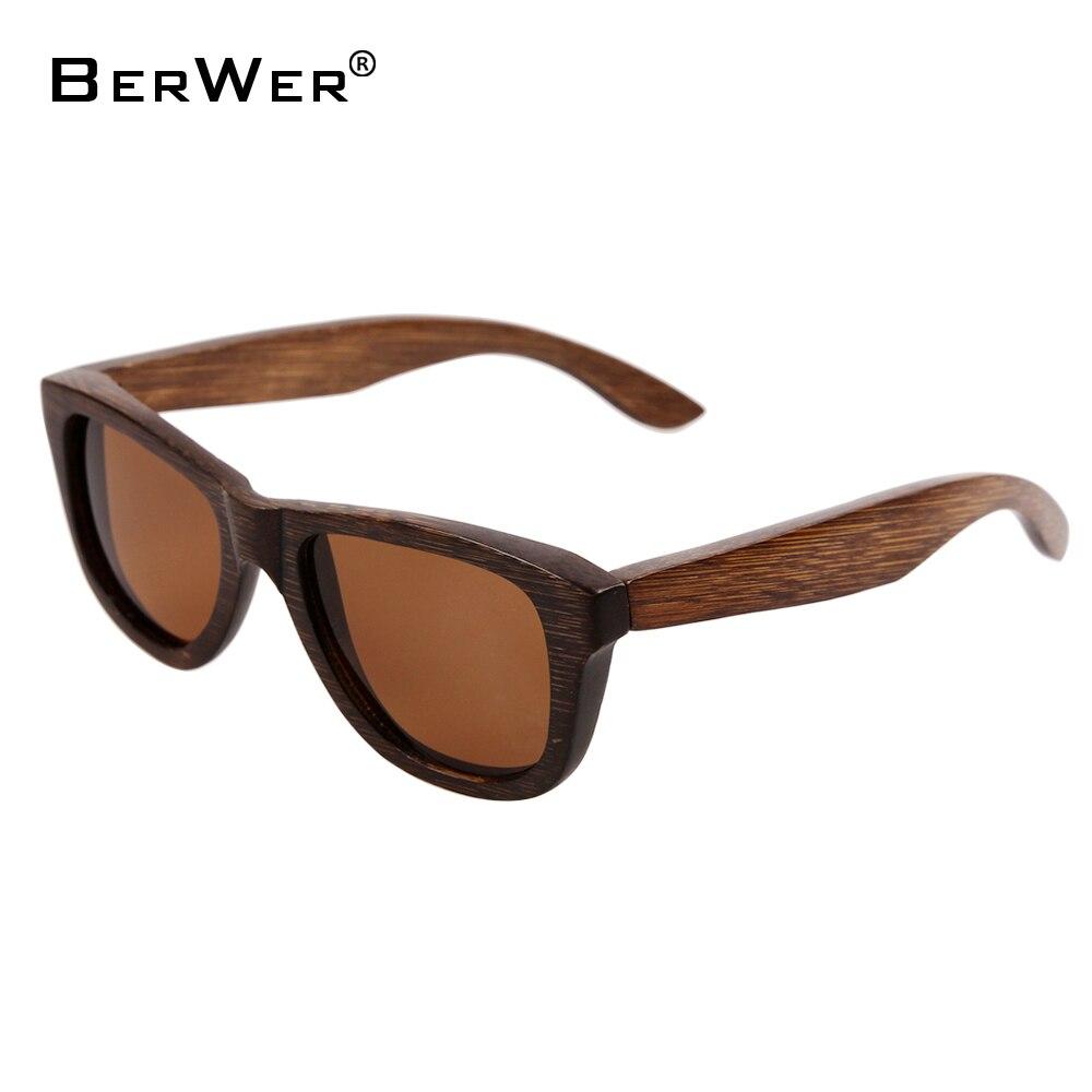 BerWer malé bambusové brýle Pánské ženy Bambusové ženy pro polarizované sluneční brýle Oculos de sol Masculino Ručně vyráběné