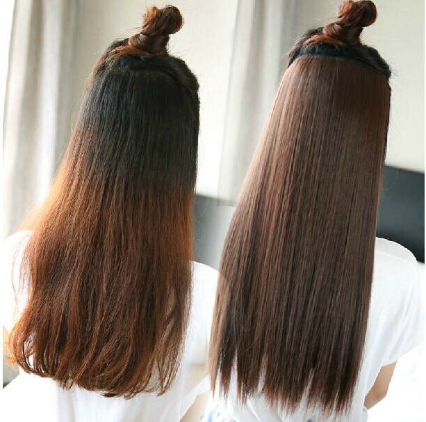 Fashion Korean Sexy Clip In On Hair Extensions Women Natural Black