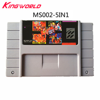 5 in 1 Video Game Cartridge console Card US Version Collection for Super Nintendo for SF C SNES
