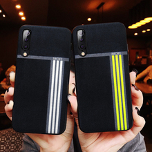 For Xiaomi Mi9 Se Case Cover Back Sport Exercise Stripe Pattern Yellow Mi 9Se