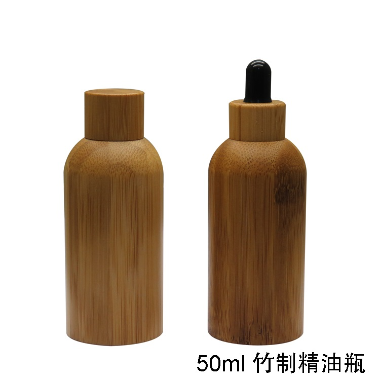 high-grade 50ml 10pcs Essential Oil empty Bottles with natural bamboo screw cap,bamboo dropper bottle Essence liquid, perfume creativity essential oil blend true botanical 100% pure and natural undiluted high quality therapeutic grade blend of rosemary clary sage hyssop marjoram cinnamon 5 ml