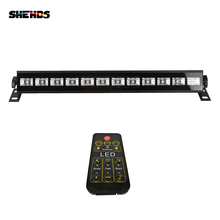 Factory Outlet LED Stage Light Bar 12x3W UV Color Led Wall Wash With Remote Control Stage Light Effect For Home Entertainment led bar involight led bar91 uv