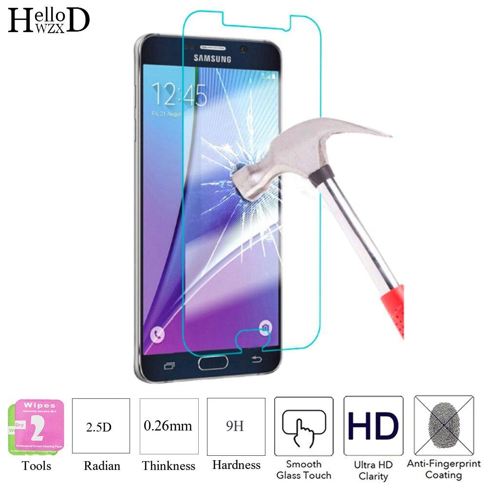 2 piezas 2.5D 9 H de cristal templado de cine Protector de pantalla duro de la cubierta de cristal de protección para Samsung Galaxy J1 mini J2 j3 J5 J7 primer herramientas