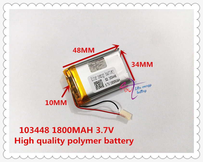 best battery brand Size 103448 3.7V 1800mah Lithium polymer Battery with Protection Board For MP4 GPS Tablet PDA
