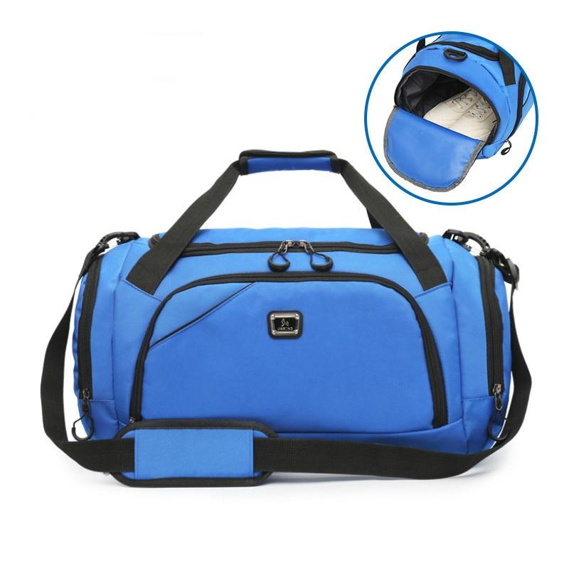 2020 Men's Outdoor Waterproof Sports Gym Bag Leisure Yoga Fitness Shoulder Bag Women Travel Handbag Training Portable Duffle Bag