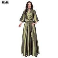 Zaawansowane Dostosowywanie Hurtownie Na Bliskim Wschodzie Szaty Suknia Kobiety Mody Pół Rękaw, Dekolt V Arabski Muzułmanin Dorywczo Luźna Długa Sukienka