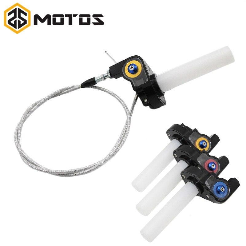ZS MOTOS Throttle Grip Twist Quick Action Gas Throttle Settle+Cable Fit KAYO Apollo Bosuer xmotos Dirt Pit Bike 50cc 110cc 125cc