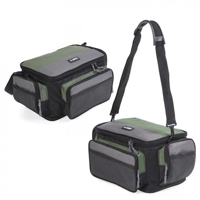 Waterproof Two-tone Outdoor Fishing Bag Multifunctional Waist Shoulder Messenger Fishing Tackle Reel Lure Camera Storage Bag