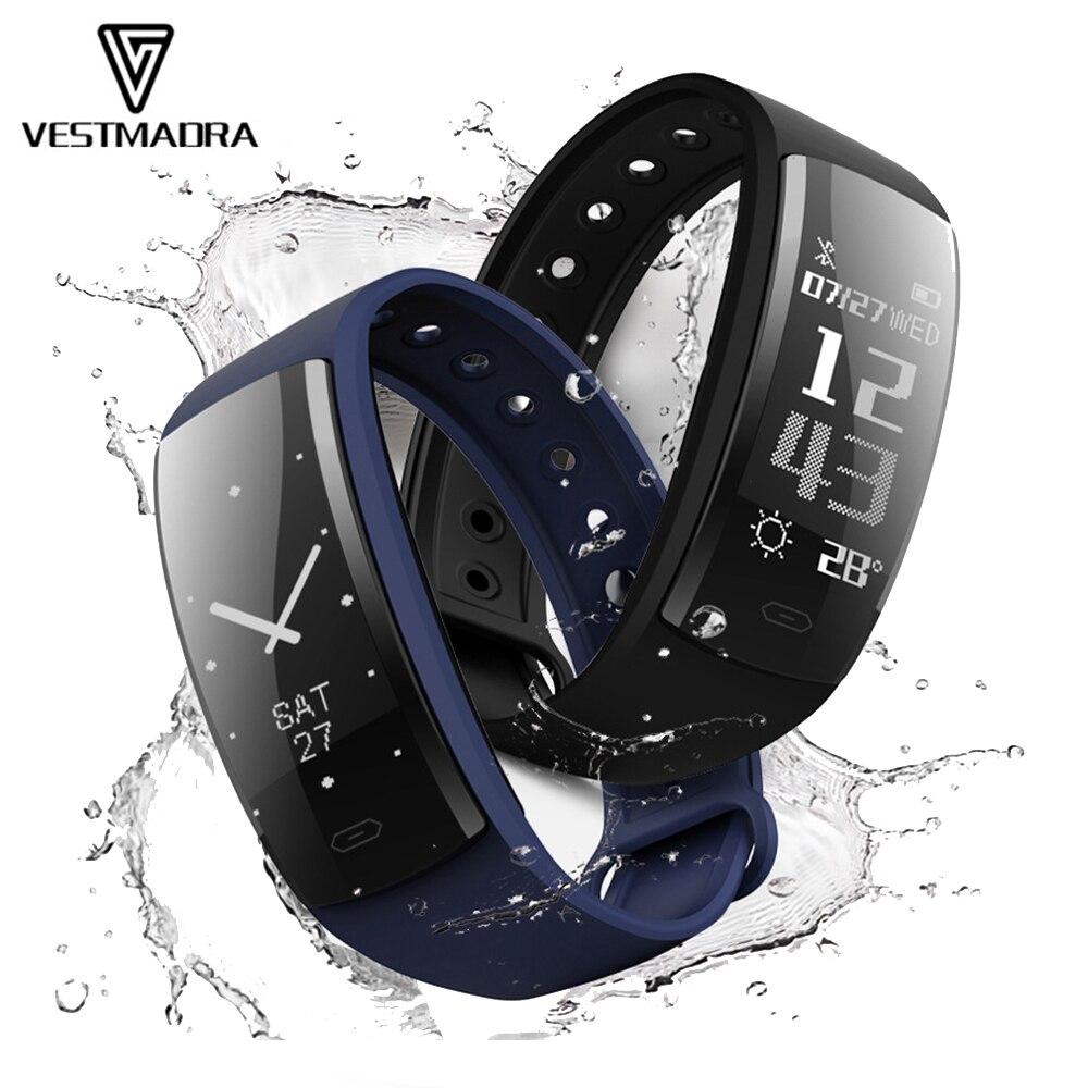 VESTMADRA QS90 Blood Pressure Smart Bracelet Heart Rate Monitor Smart Watch Blood Oxygen Monitor IP67 Fitness Tracker Wristband