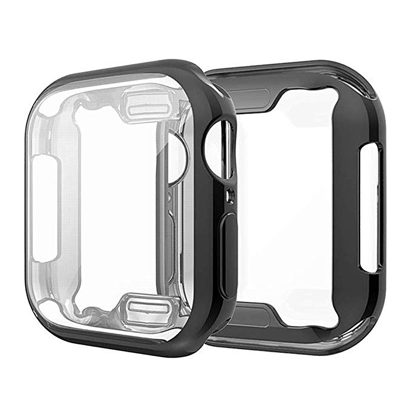 ASHEI Ultra-Thin TPU Plating Bumper For Apple Watch Case Series 4 44mm 40mm Screen Protector Soft Slim Full Cover For iWatchASHEI Ultra-Thin TPU Plating Bumper For Apple Watch Case Series 4 44mm 40mm Screen Protector Soft Slim Full Cover For iWatch