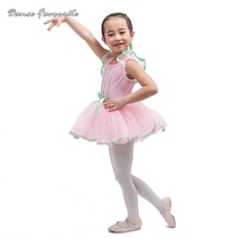 Pink spandex nice design ballerina girl ballet tutu kid dance costume ballet costume tutu