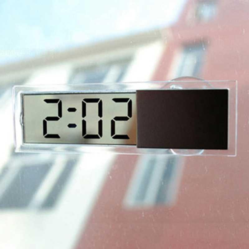 New LCD Car Digital Clock Auto Window Thermometer Celsius Fahrenheit Car Digital Clock Car Accessories