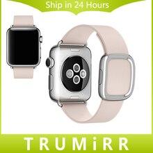 Современные Пряжки Ремешок для Часов iWatch Apple Watch Sport Edition 38 мм 42 мм Гладкий Гранада Подлинная Кожаный Ремешок Ремешок Браслет
