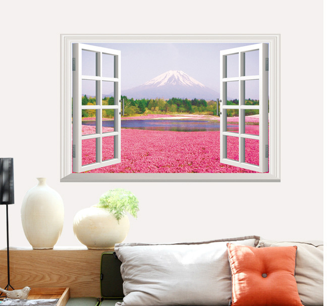 Cherry tree Scenery 3d Wallstickers For Kids Living Room Wallpaper ...