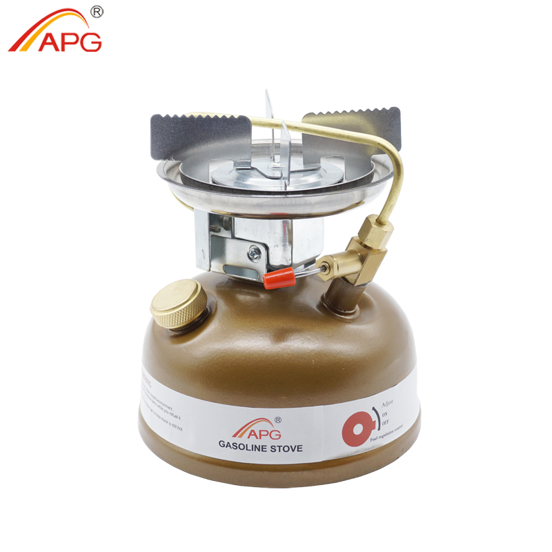 APG Camping Gasoline Stove Portable Outdoor Liquid Fuel Burners Oil Stove Cooking Cookware